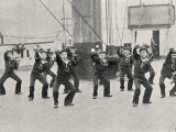 Cutlass Exercise, Training Ship Wellesley, North Shields Photographic Print by Peter Higginbotham