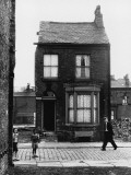 Lone Terraced House Moss Side - Manchester Photographic Print by Shirley Baker