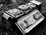 Radio Set in a Parachute Container; Second World War, 1944 Photographic Print
