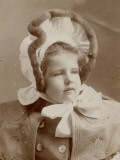 Photographic Portrait of a Young Girl in an Amazing Bonnet Photographic Print by Vanessa Wagstaff