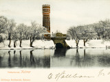 A Very Fine Decorated Brick Water Tower at Kalmar, Sweden Photographic Print