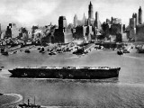 Salvaged Luxury Liner 'Normandie', New York Harbour Photographic Print