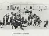 A Group of Soldiers of Turkestan with Dogs and Camels Photographic Print