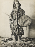 A Shaman of the Tunguska Region, Northern Russia, in Traditional Costume Photographic Print