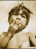 Moro Boy Smoking Papier Photo