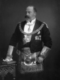 King Edward VII Dressed in Masonic Garb, 1895 Photographic Print