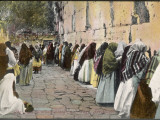 Jewish Women at the Wailing Wall, Jerusalem Photographic Print