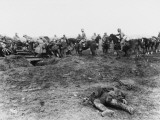 German Soldiers Advance During Spring Offensive of World War I Photographic Print by Robert Hunt