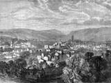 Engraving Showing the Devon Town, Tiverton, 1865 Photographic Print