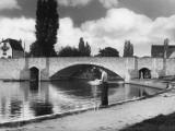 Fishing at Abingdon Photographic Print