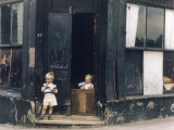 Children Play in Abandoned Corner House - Manchester 1965 Photographic Print by Shirley Baker