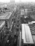 Birds-Eye View of Oxford Street, London Photographic Print by Heinz Zinram