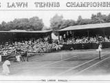 Ladies' Singles Match on Centre Court at Wimbledon Photographic Print