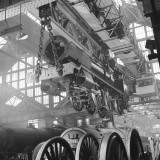 Locomotive Construction in a Large Railway Shed Photographic Print by Heinz Zinram
