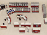 Model of a Computer Room Layout Photographic Print by Heinz Zinran