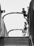 Boys Playing on Footbridge - Salford, 1964 Photographic Print by Shirley Baker