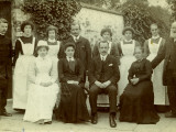 Master and Staff of Union Workhouse, Caistor, Lincolnshire Photographic Print by Peter Higginbotham