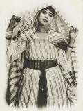 An Algerian Woman Doing the Handkerchief Dance - Algeria, Photographic Print