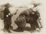 Egypt - Buying Corn from a Donkey's Panniers Photographic Print