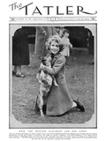 Princess Elizabeth and Her Corgi Photographic Print