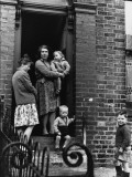 Family in a Manchester Doorway 1964 Photographic Print by Shirley Baker