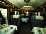 Retro Image of the Interior of the Orient Express , Travel, Luxury Experience Lámina fotográfica