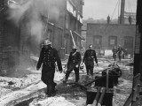 Fire at St. KatherineS Docks During the Blitz Photographic Print by Robert Hunt