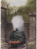 A Passenger Train of the North-Eastern Railway Emerges from Bramhope Tunnel Photographic Print