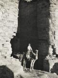 Camel Driver at Petra, Jordan Photographic Print