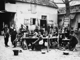 French Troops During a Meal in World War I Photographic Print by Robert Hunt