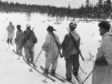 Ski Troops Patrolling in Finland During World War Ii Photographic Print by Robert Hunt