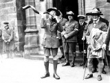 Sir Robert Baden-Powell Playing the Kudu Horn, Birkenhead Photographic Print
