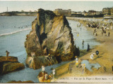 Biarritz: the Beach at Low Tide Photographic Print
