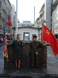Checkpoint Charlie Reconstruction, Berlin, Germany Photographic Print