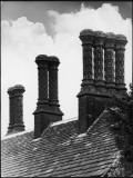 Some Fine Tudor Chimneys at Bramhall Hall, Cheshire, England Photographic Print