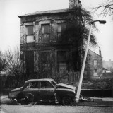 Abandoned Car and Delapidated House in Manchester Photographic Print by Shirley Baker
