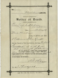 Notice of Death from Union Workhouse, Maldon, Essex Photographic Print by Peter Higginbotham