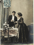 A Young French Couple Give their First Dinner Party Photographic Print