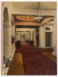 Hotel Hallway 1920s Photographic Print