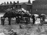 Rag Men with Horse-Drawn Cart - Salford, Manchester Photographic Print by Shirley Baker