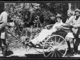 Rickshaw in India 1920s Fotografická reprodukce