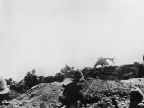 Allied Forces Attacking from the Trenches at Gallipoli During World War I Photographic Print by Robert Hunt
