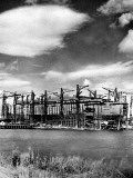 R.M.S. 'Queen Mary' under Construction, Clydebank Photographic Print