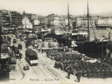 Marseilles, France, The Quayside with Wine Barrels Lined Up Ready for Export Photographic Print
