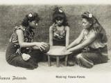 Samoan Women - Making Kawa-Kawa Photographic Print