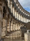 Interior View of Roman Amphitheatre at Pula, Croatia Photographic Print