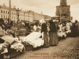 Sellers at Souhareva Market, Moscow Photographic Print