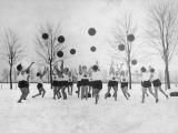 Ladies Ball Practice Photographic Print