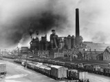 Smoke Billowing Out of the Iron Works, Corby, Northamptonshire Photographic Print