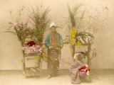 Japanese Flower Seller Photographic Print
